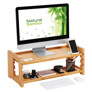 Songmics Bamboo Height Adjustable Monitor Stand