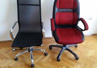 Left - my old chair, right - my new chair
